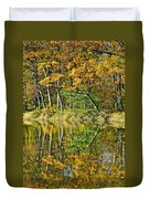 Leaning Trees Duvet Cover by Frozen in Time Fine Art Photography