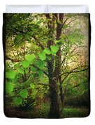 Leaves In My Hair Duvet Cover by Laurie Search
