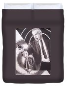 Lee Marvin - Point Blank Duvet Cover by Sean Connolly