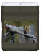 Left Behind At The Marsh Duvet Cover by Denyse Duhaime