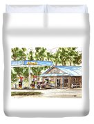 Leipers Fork Market Duvet Cover by Tim Ross