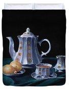 Lemons and Tea Duvet Cover by Anastasiya Malakhova