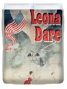 Leona Dare Duvet Cover by Jules Cheret