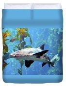 Leopard Shark Duvet Cover by Barbara Snyder