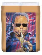 Leroi Moore And 2007 Lights Duvet Cover by Joshua Morton