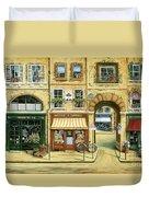 Les Rues De Paris Duvet Cover by Marilyn Dunlap