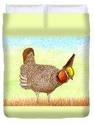 Lesser Prairie Chicken Duvet Cover by Jack Pumphrey