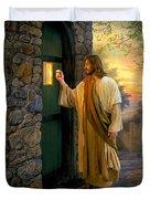 Let Him In Duvet Cover by Greg Olsen