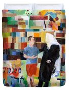 Let Us Make Man Duvet Cover by David Baruch Wolk