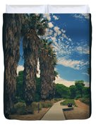 Let's Walk This Path Together Duvet Cover by Laurie Search