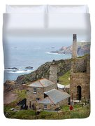 Levant Mine And Beam Engine Duvet Cover by Terri Waters