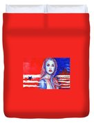 Liberty American Girl Duvet Cover by Anna Ruzsan