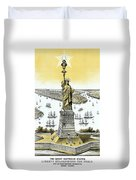 Liberty Enlightening The World  Duvet Cover by War Is Hell Store