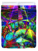 Liberty Head Abstract 20130618 square Duvet Cover by Wingsdomain Art and Photography