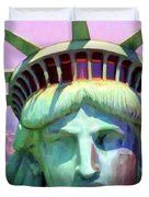 Liberty Head Painterly 20130618 Duvet Cover by Wingsdomain Art and Photography