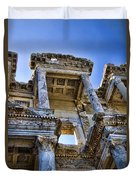 Library Of Celsus Duvet Cover by David Smith