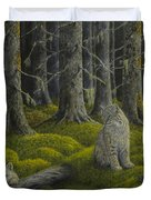Life in the woodland Duvet Cover by Veikko Suikkanen