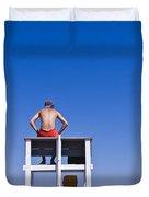 Lifeguard Duvet Cover by John Greim