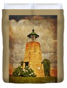 Lighthouse - La Coruna Duvet Cover by Mary Machare