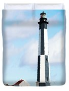 Lighthouse Living - New Cape Henry Lighthouse Duvet Cover by Gregory Ballos