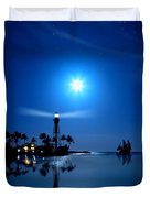 Lighthouse Moon Duvet Cover by Mark Andrew Thomas