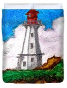 Lighthouse Nova Scotia Duvet Cover by Anita Lewis