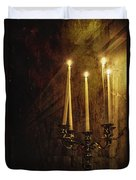 Lighting The Way Duvet Cover by Margie Hurwich