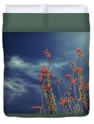 Like Flying Amongst The Clouds Duvet Cover by Laurie Search