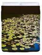 Lilly Pads Duvet Cover by David Pyatt