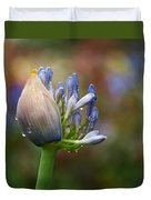 Lily Of The Nile Duvet Cover by Rona Black