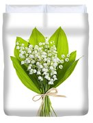Lily-of-the-valley Bouquet Duvet Cover by Elena Elisseeva