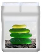 Lime Breeze Duvet Cover by Barbara McMahon