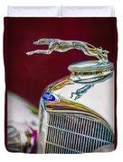 Lincoln Hood Ornament - Grille Emblem -1187c Duvet Cover by Jill Reger