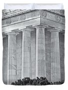 Lincoln Memorial Pillars BW Duvet Cover by Susan Candelario