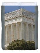 Lincoln Memorial Pillars Duvet Cover by Susan Candelario