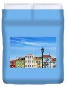 Lisbon Houses Duvet Cover by Carlos Caetano