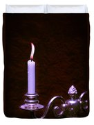 Lit Candle Duvet Cover by Amanda And Christopher Elwell
