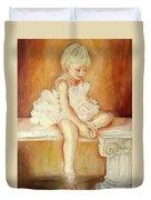 Little Ballerina Duvet Cover by Carole Spandau