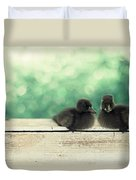 Little Buddies Duvet Cover by Amy Tyler