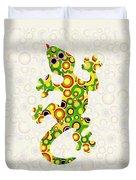 Little Lizard - Animal Art Duvet Cover by Anastasiya Malakhova