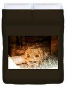 Little Orange Face Duvet Cover by Cat Connor