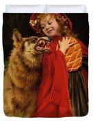 Little Red Riding Hood Duvet Cover by Gabriel Joseph Marie Augustin Ferrier