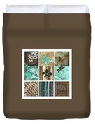 Live And Love By Madart Duvet Cover by Megan Duncanson