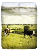 Livestock  Duvet Cover by Les Cunliffe