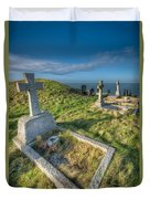 Llanbadrig Cemetery Duvet Cover by Adrian Evans
