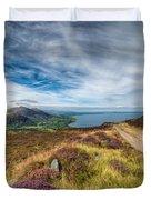 Llyn Peninsula Duvet Cover by Adrian Evans
