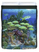 Lobster Feast Re0019 Duvet Cover by Carey Chen
