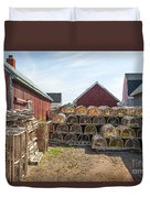 Lobster Traps In North Rustico Duvet Cover by Elena Elisseeva
