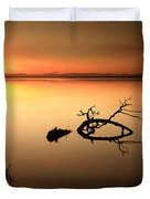 Loch Leven Sunset Duvet Cover by Grant Glendinning
