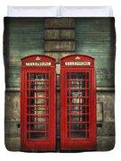 London Calling Duvet Cover by Evelina Kremsdorf